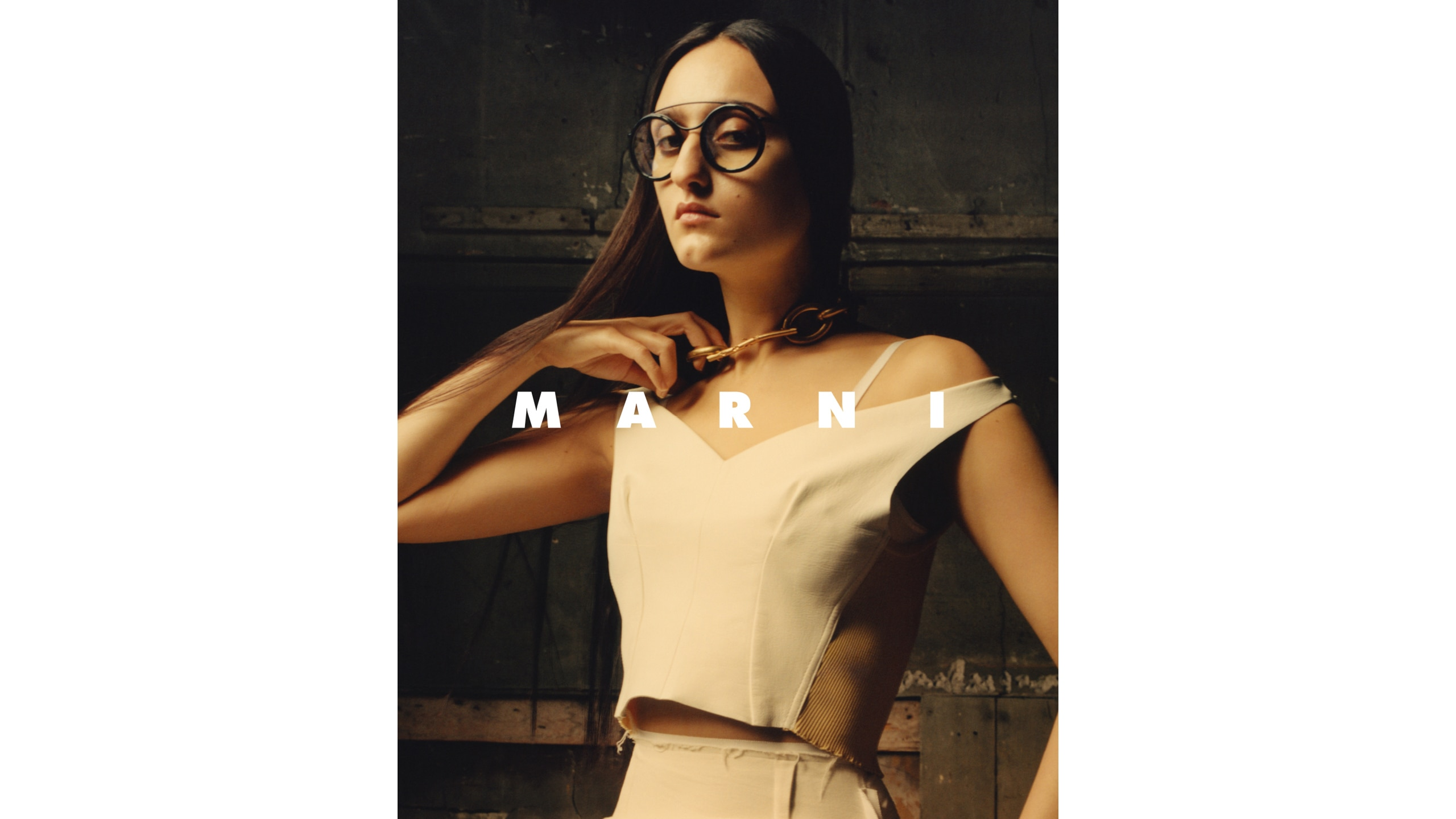 Marni portrait focus Eyewear and Jewelry Spring Summer 2019 women collection