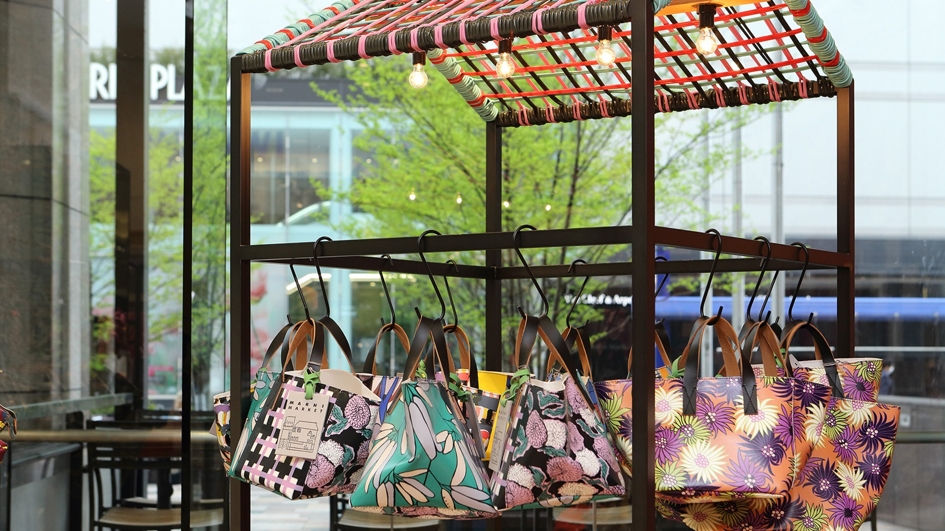 Marni Market pop up in Nagoya and Fukuoka 2017 interior 16. Products close up.