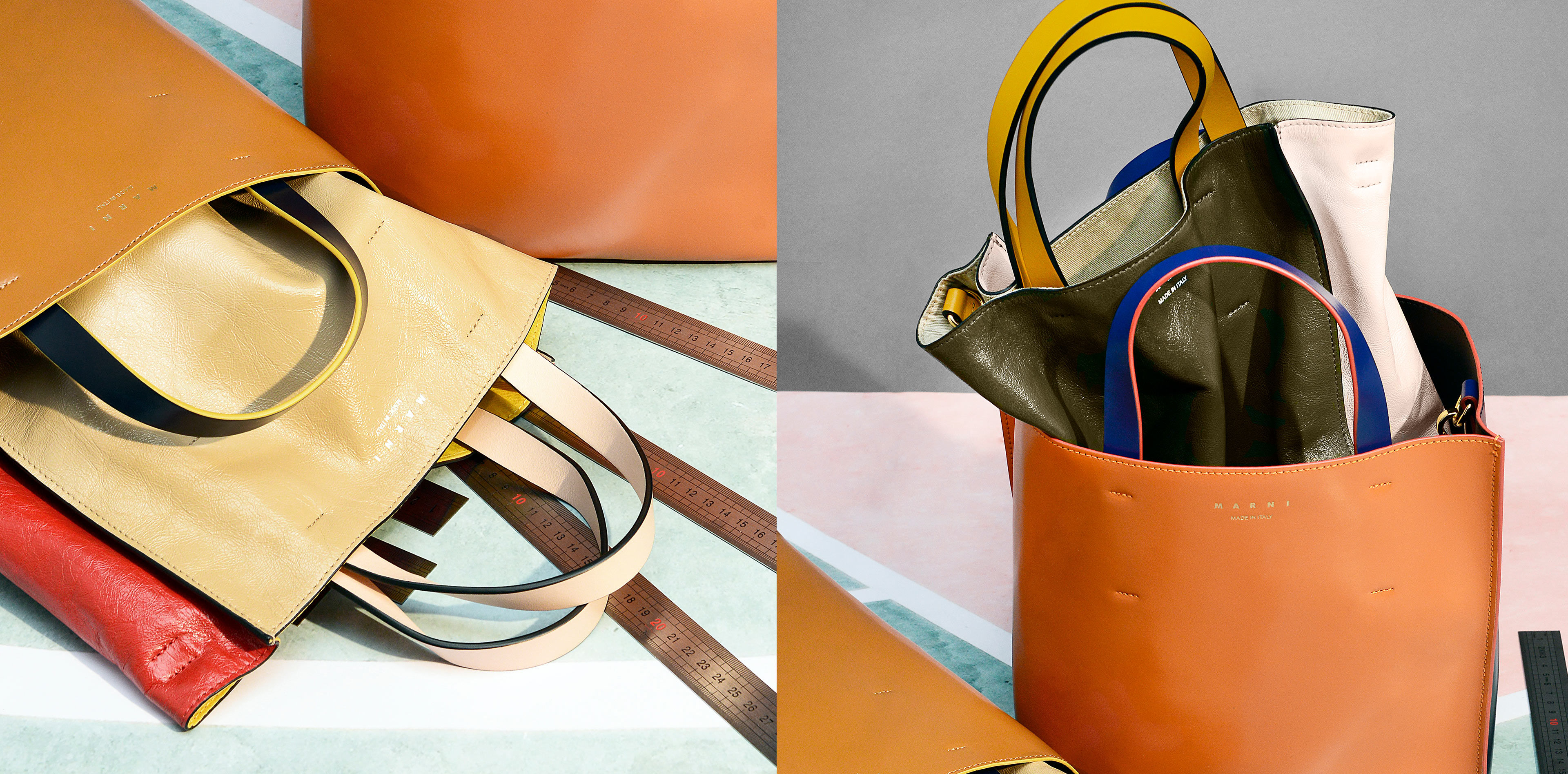 Brown and red Museo Bags from the Resort 2020 Collection