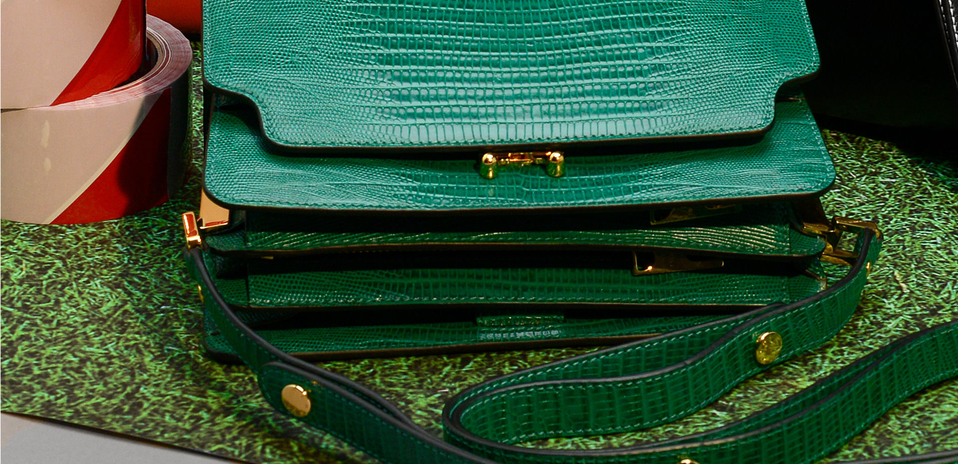 Green Marni Trunk Reverse